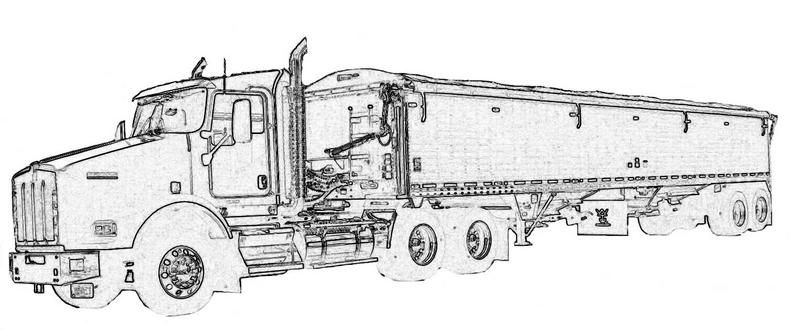 Semi Truck Coloring Pages Semi Truck Coloring Pages
