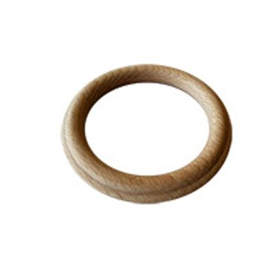 Slim Designer Fluted Unfinished Wood Curtain Rings WESTERN WOOD