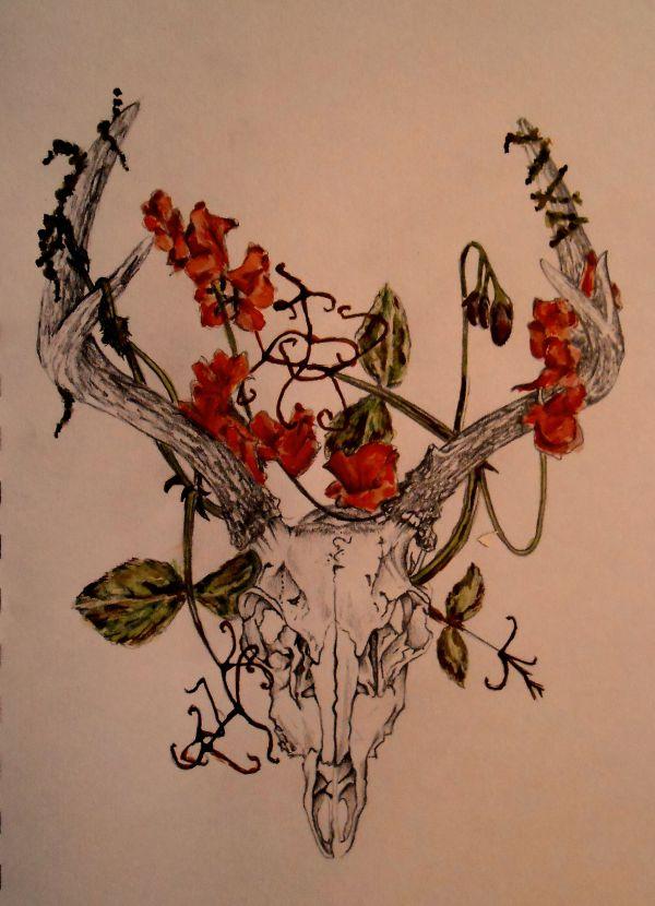 Pin Mackenzie Grover Drawing Inspiration Skull Sketch Tattoo And Tatting
