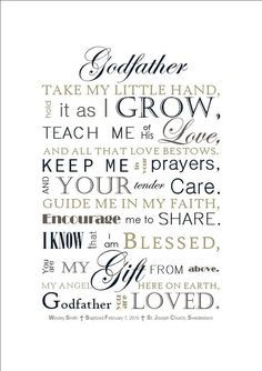 DIGITAL FILE: Godfather Gift Godmother Gift by