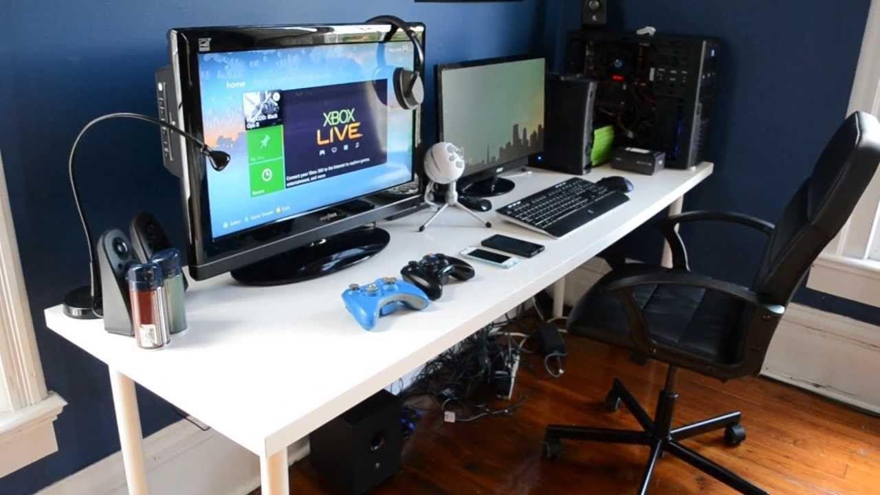 GamingDesk Setup 2013  Game room  Pinterest  Gaming