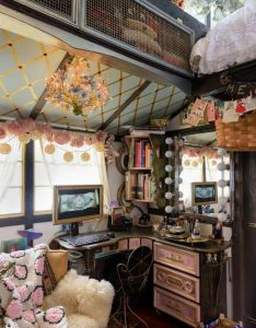 Downwithdignity   steampunktendencies inside the tiny house chloe barcelou and brandon batchelder decorated for christmas photos by   also pin jeanene gioscia on boho style home indoors  out rh in pinterest