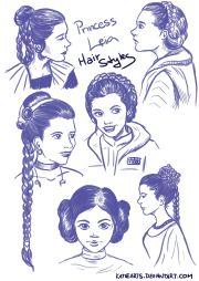 artstation - princess leia hairstyles
