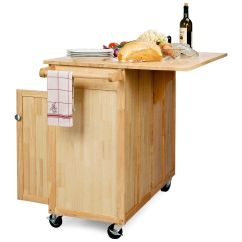 Kitchen Island Portable Rail System The Vinton With Optional Stools