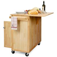 The Vinton Portable Kitchen Island with Optional Stools ...