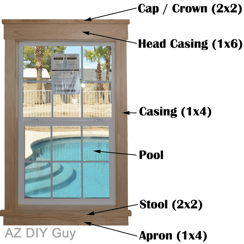 easy diy craftsman style window trim complete tutorial