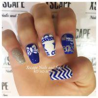 Coffin Dallas Cowboys Nails | Cute Nails Designs ...