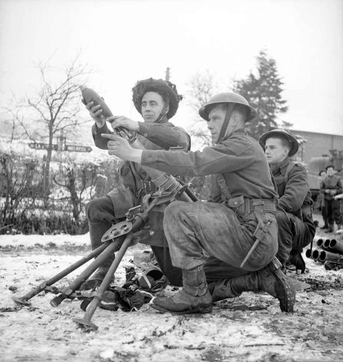 Jan 9 A Platoon Watches And Waits In The Snow