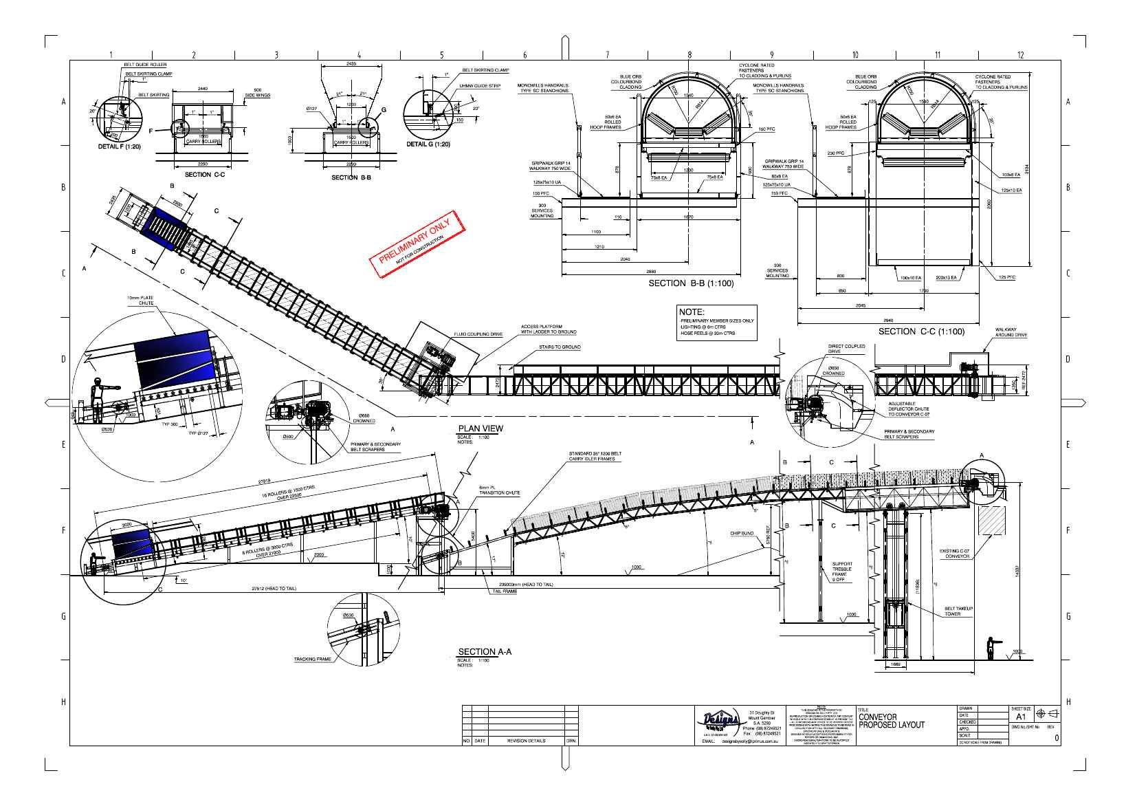 Conveyor Belt Drawings