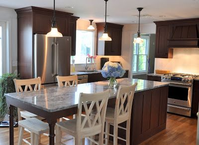 Long Kitchen Islands With Seating Islandseating For 5 Kitchens Forum GardenWeb