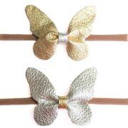butterfly leather hair bow diy