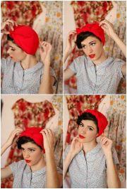classic 1950s headscarf tutorial