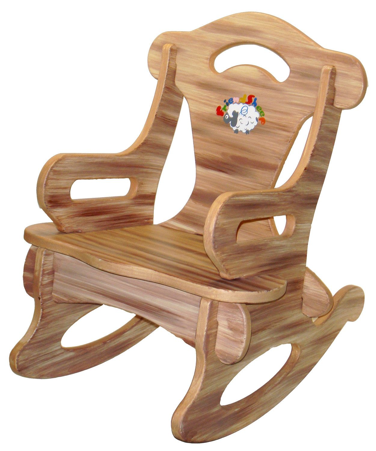 Toddler Wooden Rocking Chair Brown Puzzle Rocker Rocking Chair Solid Wood For By
