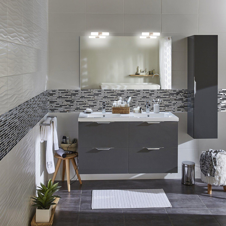 Du gris et du blanc pour la salle de bains  Appart  Pinterest  Les salles de bain La salle