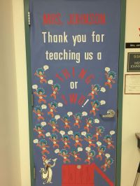 Dr Seuss Thing one and two Classroom Door decoration for ...