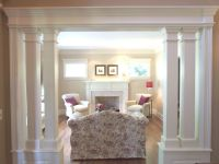 Living Room With Interior Columns | Low Wall / Interior ...