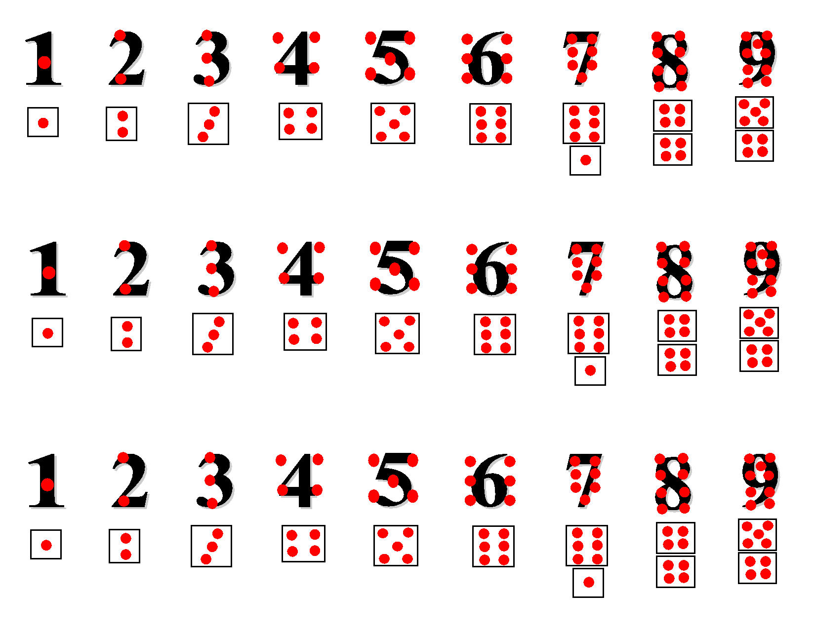 Touch Math Worksheets