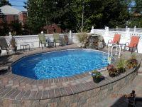 semi inground pools with decks | High Rise Semi-Inground ...
