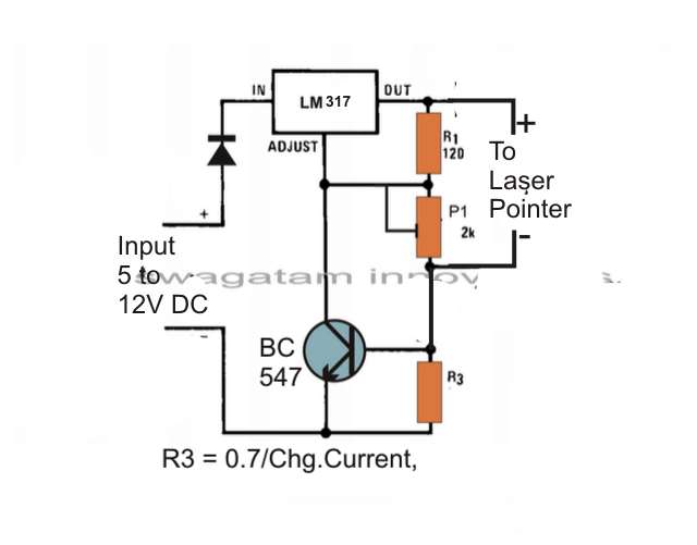 The Post Explains A Simple Laser Pointer Power Supply Circuit