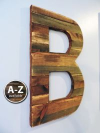Large Wood Letters, Rustic Letter Cutout, Custom Wooden ...