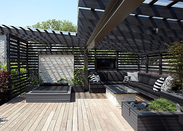 Chicago Modern House Design Amazing Rooftop Patio Raised Beds