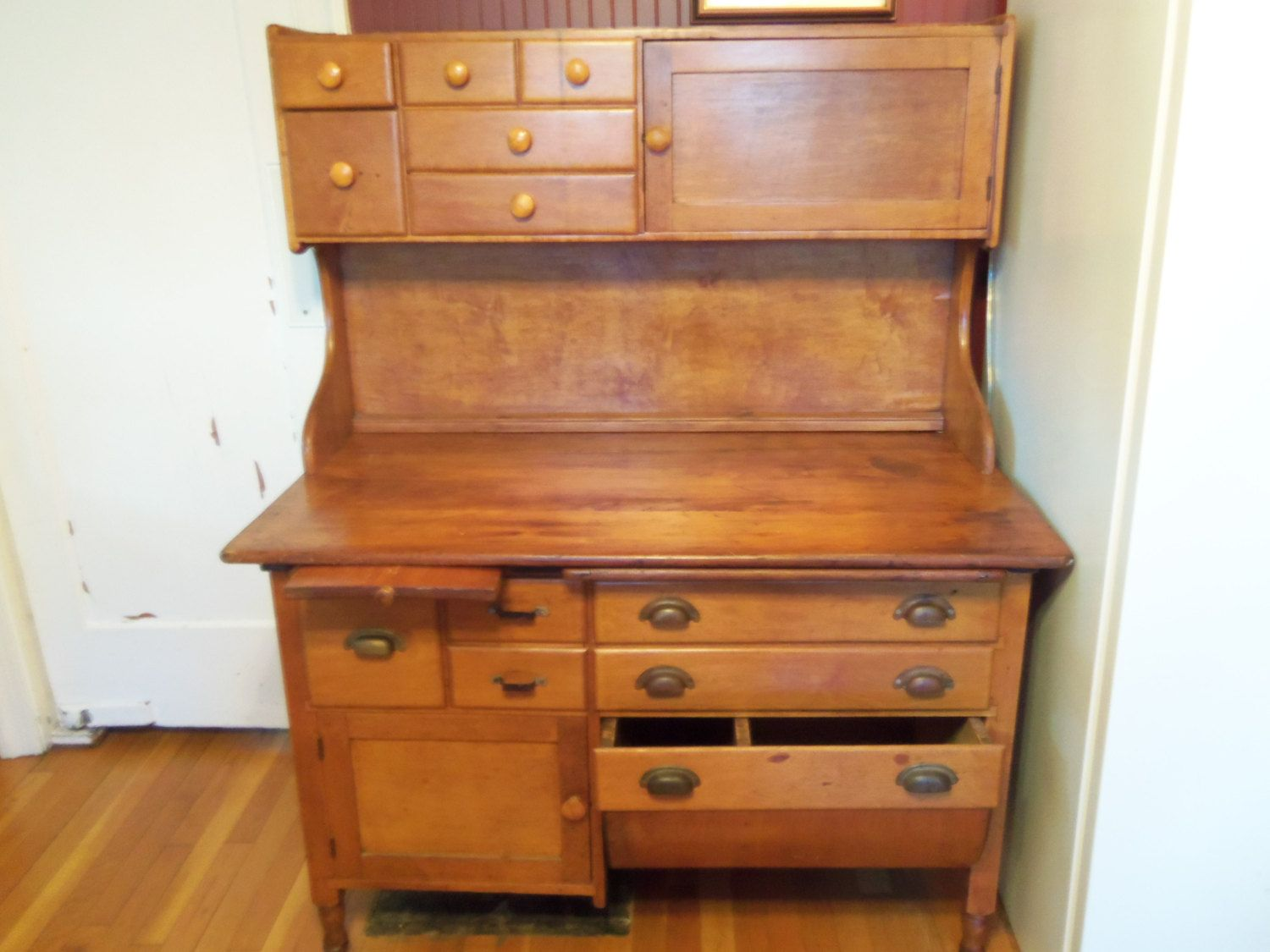 kitchen furniture storage what is the average cost of a remodel deposit christine only vintage bakery baker 39s table
