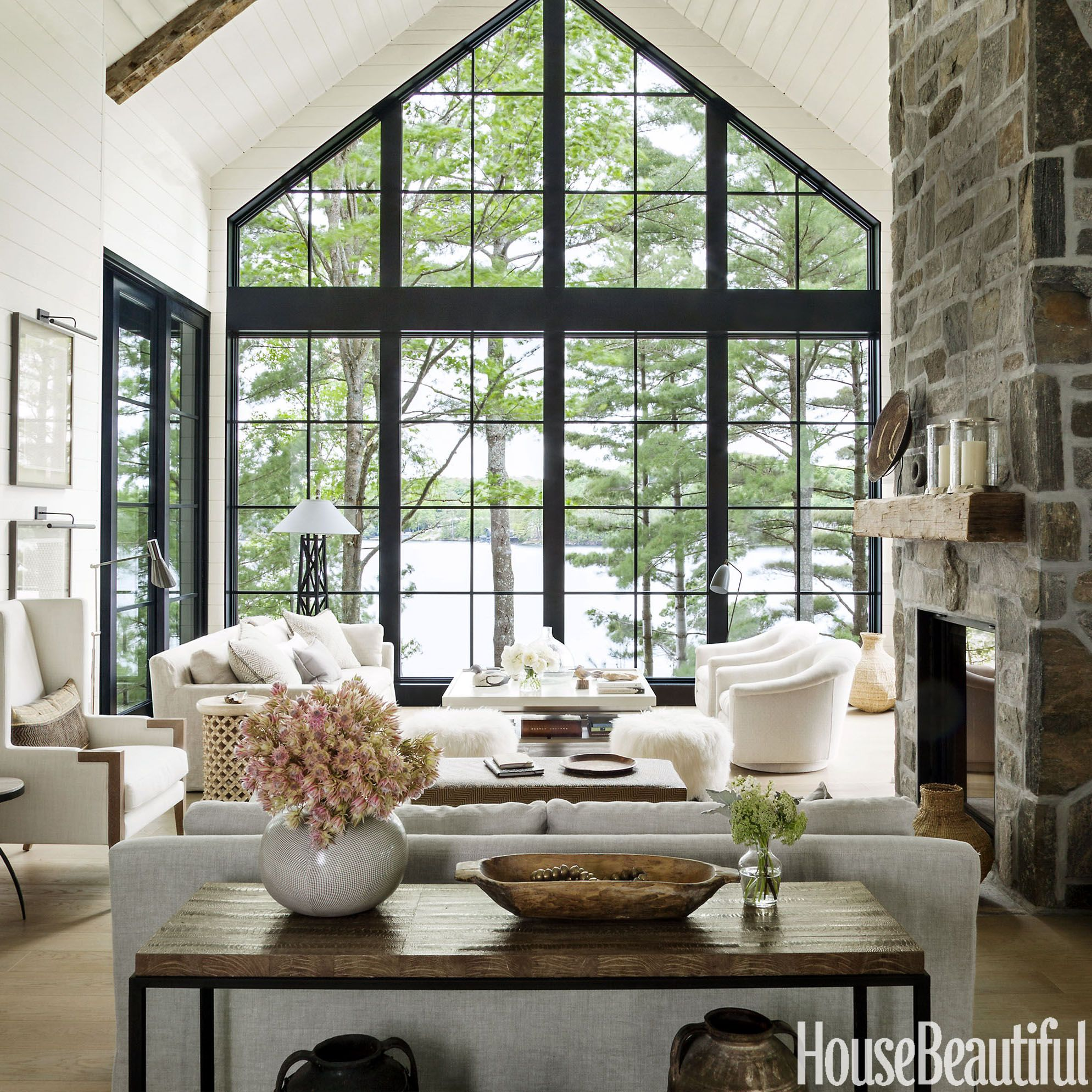 Home Tour Anne Hepfers Rustic Modern Lake House  Lakes