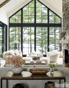 Home tour anne hepfer   rustic modern lake house also lakes designers rh pinterest