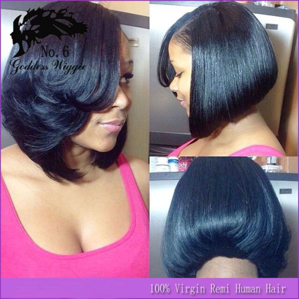30 Bang Hairstyles African American Feathered Bob Hairstyles