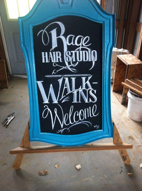 Salon Sidewalk Sign Chalkboard