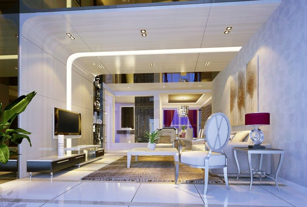 Creativity Living Room Duplex House Interior Design 3D Idée Deco
