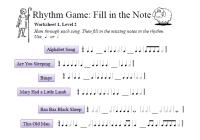 All Worksheets  Music Rhythm Worksheets - Printable ...
