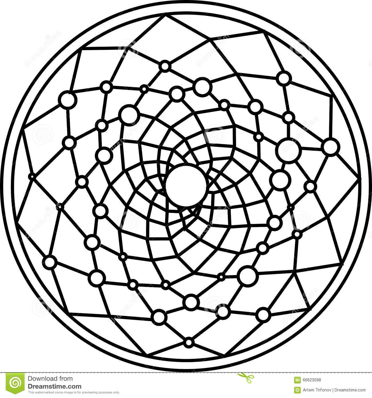 Image result for dream catcher centre black and white clip