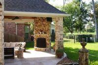 Covered Patio Corner Fireplaces Ideas | Creative ...