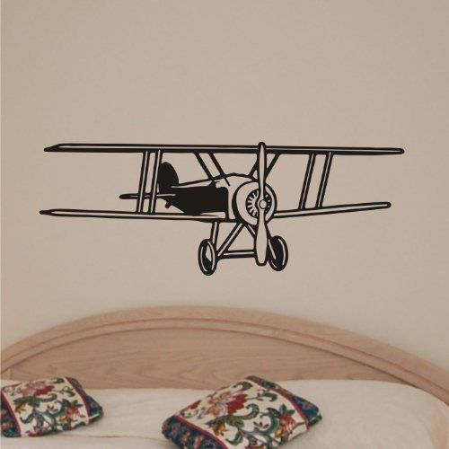 Airplane wall decals for kids rooms plane art home decor vinyl letters stickers also rh pinterest