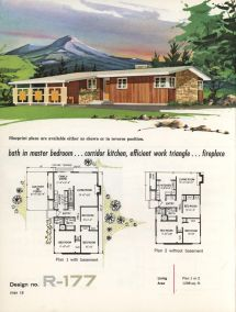 Vintage 1960s Ranch House Plans