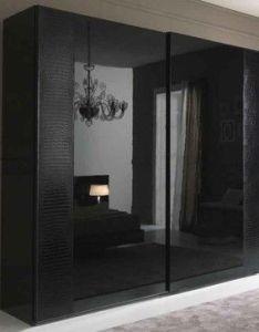 Rossetto usa nightfly sliding door wardrobe in black also sexy furnishings pinterest rh