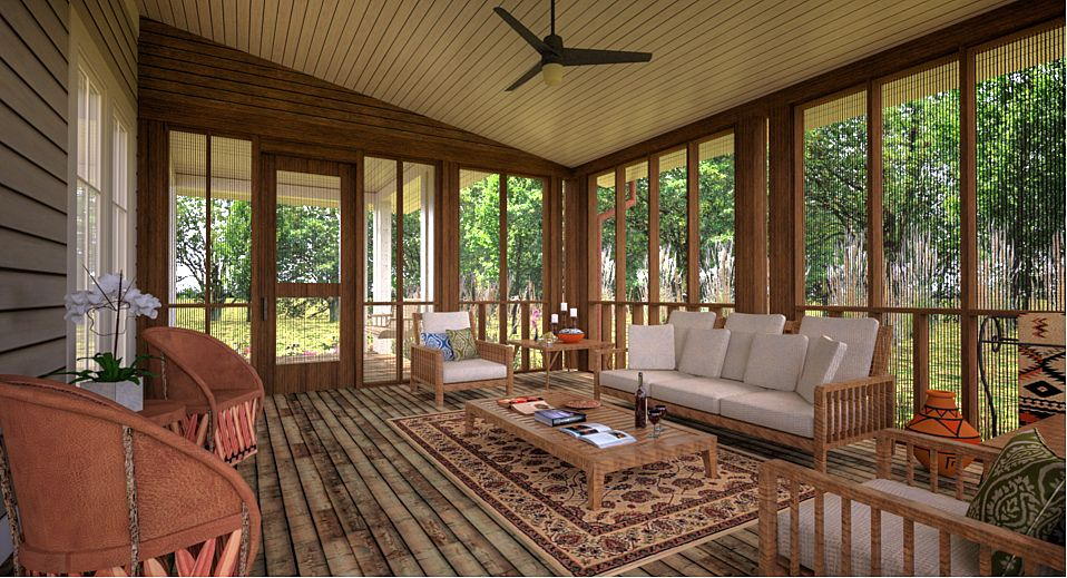 Alfa Img Showing > Screened Porch Ideas For Houses Indoor