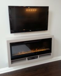 Dimplex BLF-50 electric fireplace in a custom floating ...