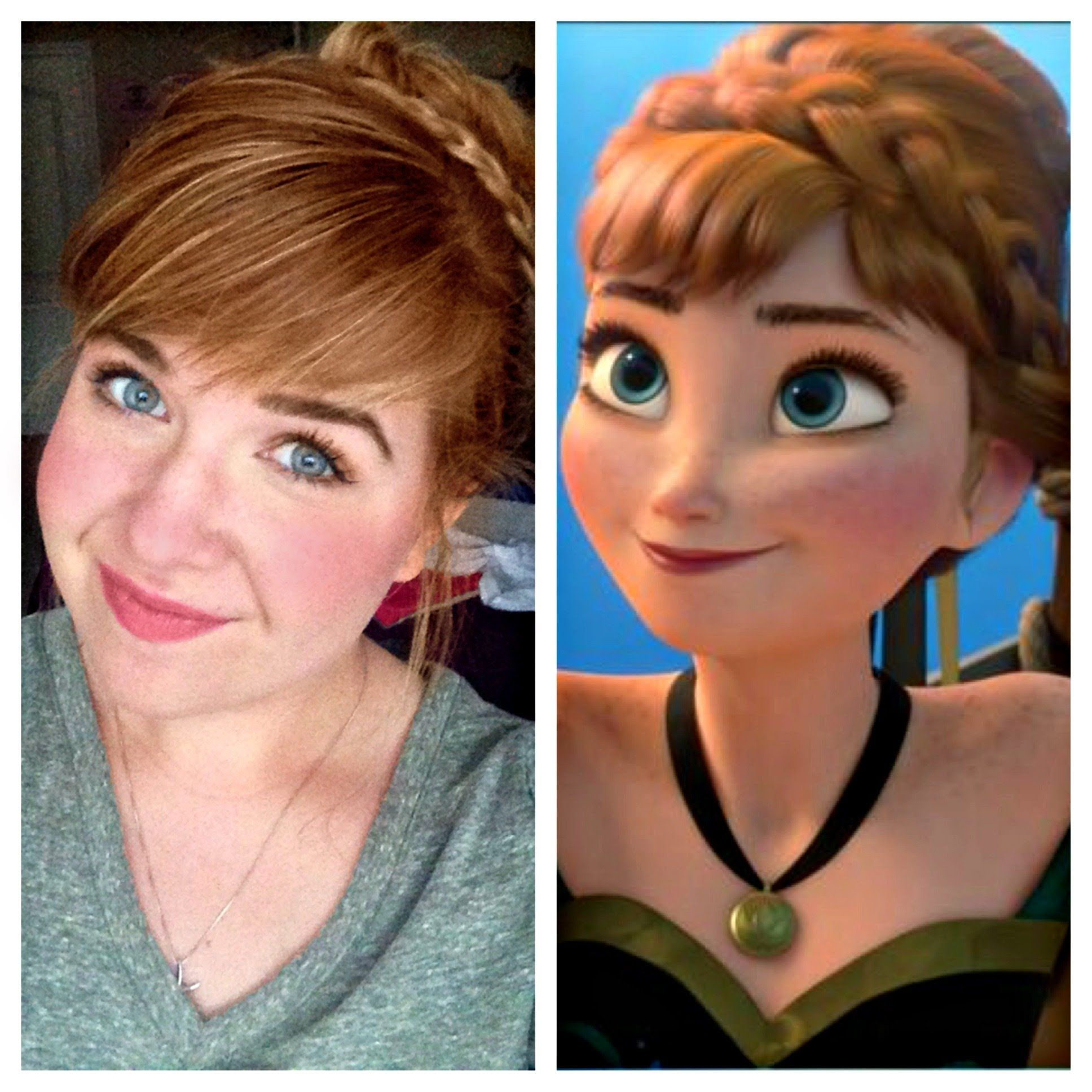 Anna Frozen Coronation Hair And Makeup Tutorial Disney Things