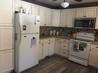 Lowe's Caspian off white kitchen.