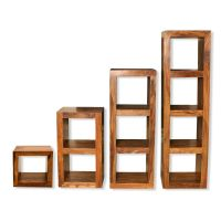 Cube Shelving Units, solid sheesham wood - Shelving units ...