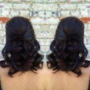 military ball hair bridal
