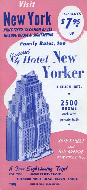 Ca 1950's New York Tour Brochure Vintage Travel Brochures
