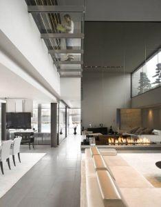 Interior design styles impressive inspiring modern high ceiling style in amazing contrast also rh pinterest