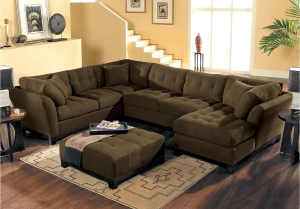 Cindy Crawford Metropolis Espresso 3pc Sectional . 1 999