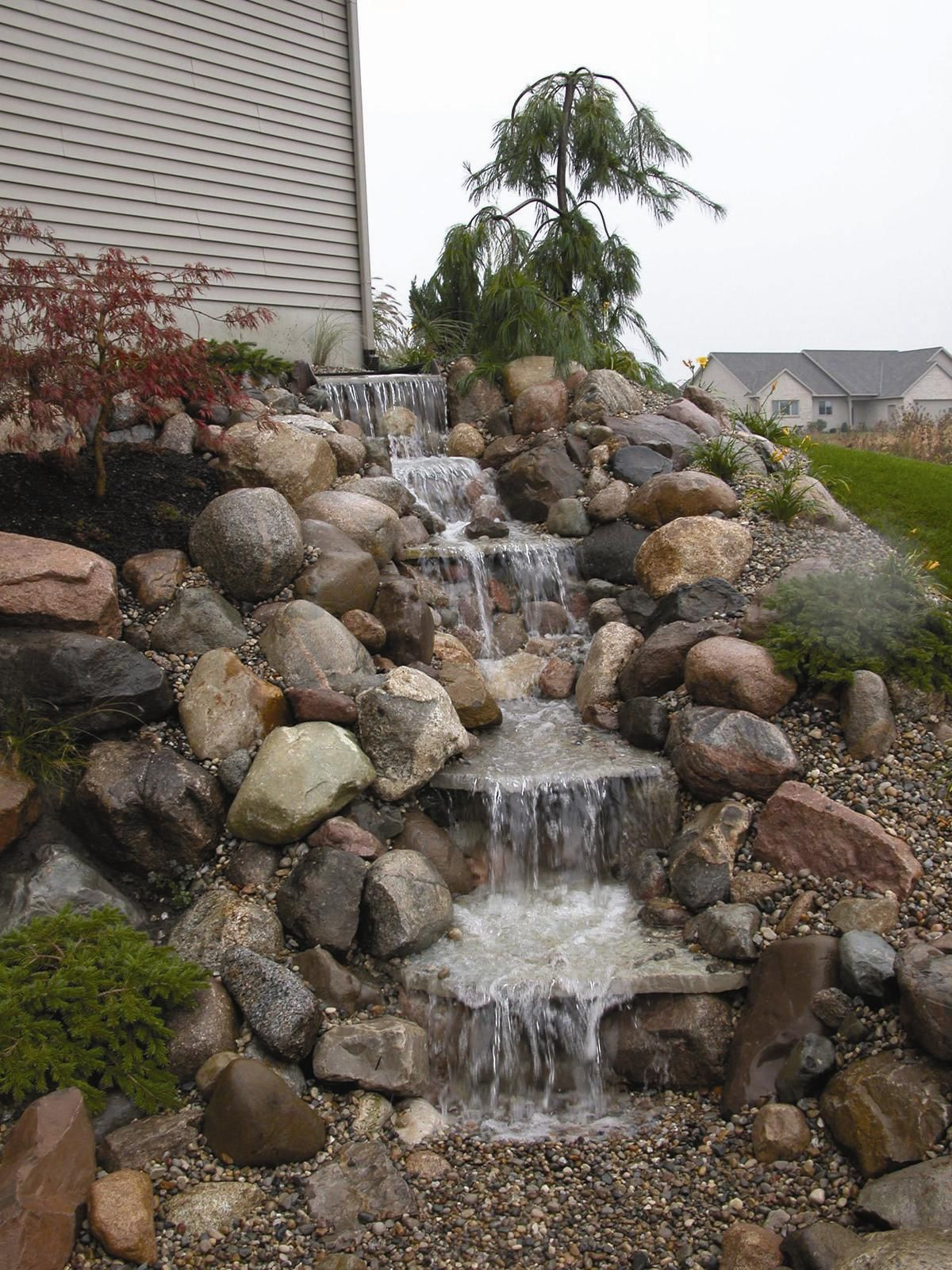 Small ponds  Water features on Pinterest  Water Garden Water Features and Backyard Waterfalls