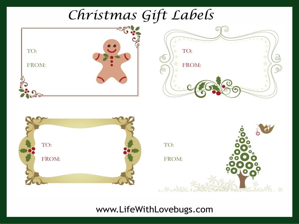 Free Christmas T Tag Label Printable
