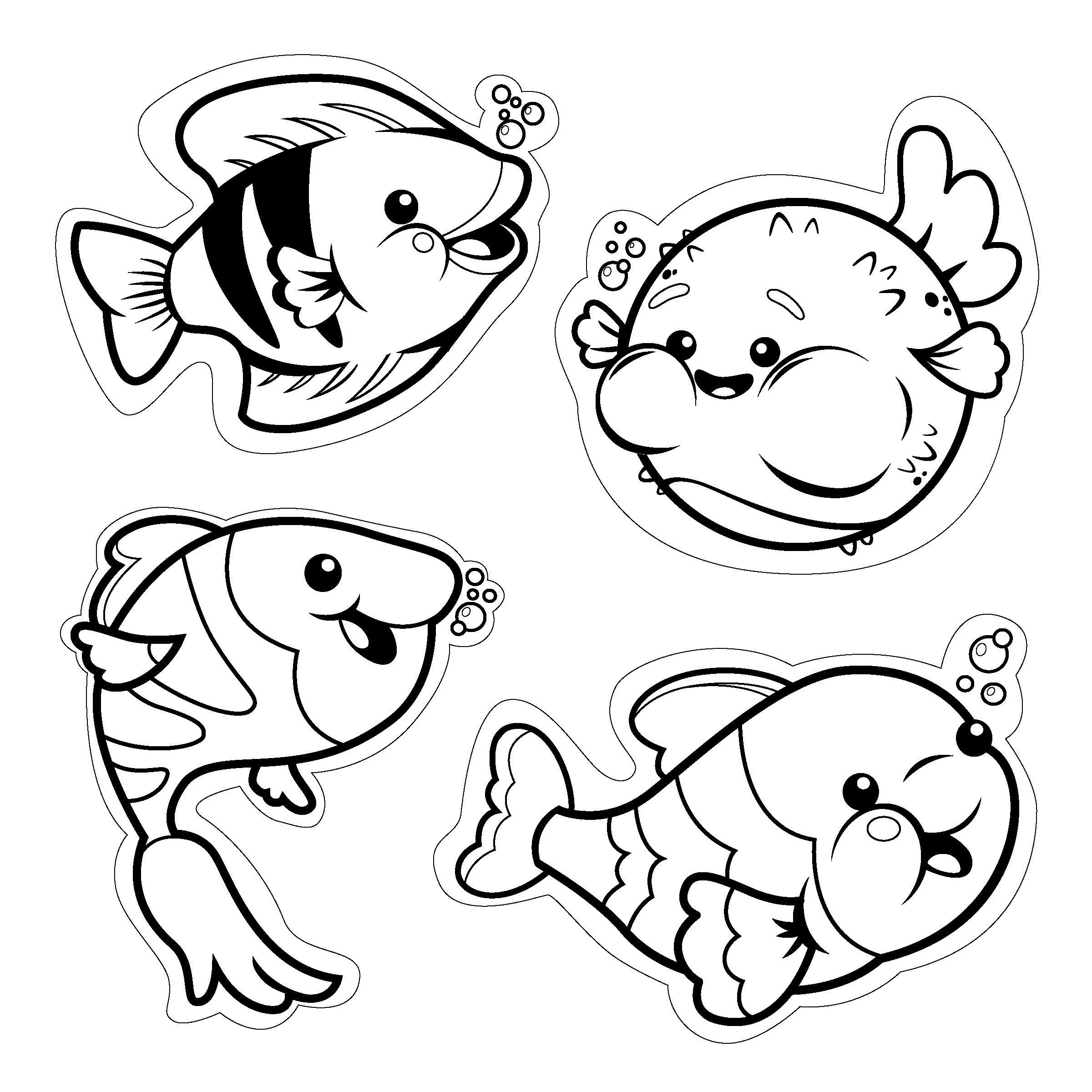 Cute Fish Cut Outs