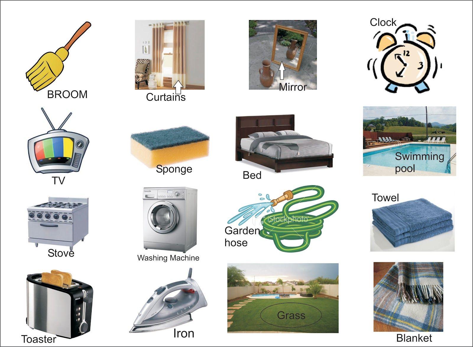 Objetos Para Casa Em Ingles